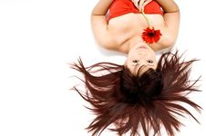Free Woman And Flower Stock Photos - 3203513