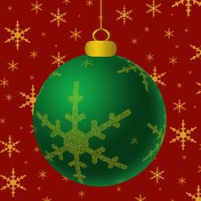 Free Green Ornament Gold Accents Stock Image - 3203841