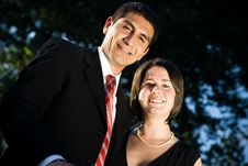 Young Happy Business Couple Royalty Free Stock Image