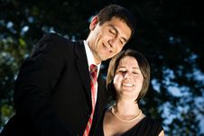 Young Happy Business Couple Stock Image