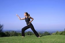 Free Woman Practising Self Defense Stock Image - 3204761