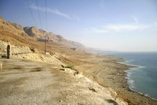 Free Dead Sea Coastline Royalty Free Stock Photography - 3204807