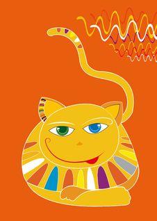 Free Orange Cat  Illustration Royalty Free Stock Photos - 3205148