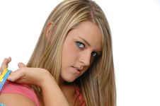Free Cute Teen Girl Shopping Royalty Free Stock Photography - 3205977