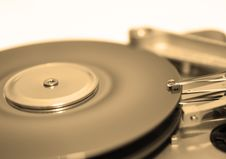 Free Hard Disk Drive In Sepia Royalty Free Stock Images - 3206059