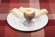 Free Boiled Egg For Breakfast Stock Photography - 3206232