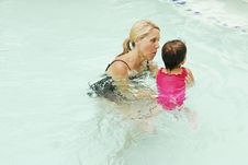 Swimming Lessons Royalty Free Stock Photography