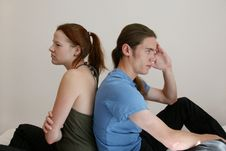 Free Young Couple Sulking Stock Photography - 3206552