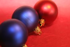 Three Baubles Stock Photography
