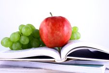 Free Books And Apple Stock Image - 3206851