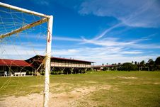 Free Old Rundown Soccer Field Royalty Free Stock Images - 3206989