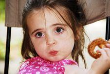 Free Pretzel Girl Royalty Free Stock Image - 3207056