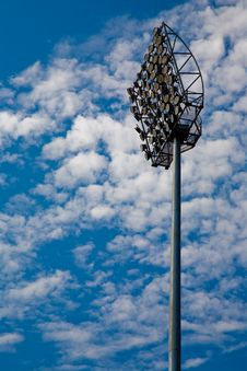 Free Flood Lights Blue Sky Royalty Free Stock Images - 3207089
