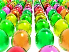 Free Bright Easter Eggs Stock Photography - 3207432