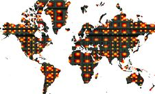 Free World Map Royalty Free Stock Photography - 3208247
