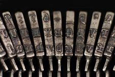 Free Old Typewriter Hammers Stock Photos - 3209563