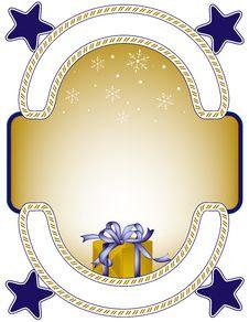 Free Gift Frame Royalty Free Stock Image - 3209936