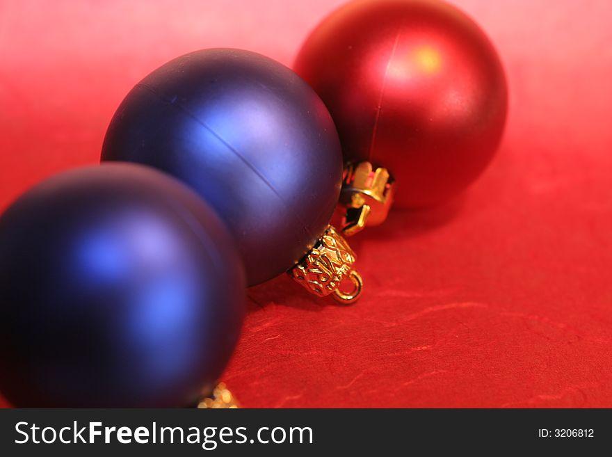 Three baubles