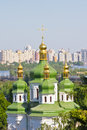 Free Vydubychi Monastery Domes And Crosses Royalty Free Stock Photography - 32003657