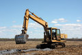 Free Excavator On Cultivated Land Stock Image - 32005871
