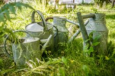 Free Watering Cans Royalty Free Stock Photography - 32002227