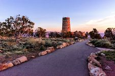 Free Desert View Watchtower At Sunrise Stock Photography - 32002922