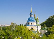 Free Vydubychi Monastery View Stock Images - 32003554