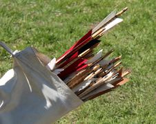 Free Archery Quiver Arrows. Royalty Free Stock Photography - 32004127