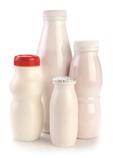 Free Various Bottles Of Yogurt Royalty Free Stock Images - 32004369