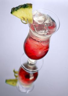 Iced Rum Cocktail With Pineapple Royalty Free Stock Image