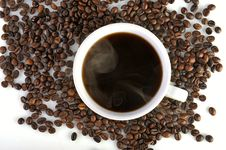 Free Coffee Cup And Coffee Beans Stock Photography - 32005852