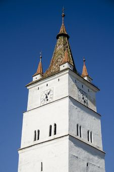 Tower Of Harman Fortified Church Stock Photos