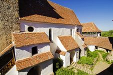 Courtyard Of Viscri Fortified Church Royalty Free Stock Images