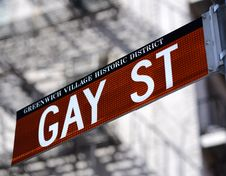 Gay St In New York Cityy Stock Images