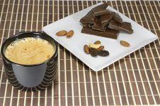 Chocolate To A Cup Of Morning Coffee Royalty Free Stock Photography