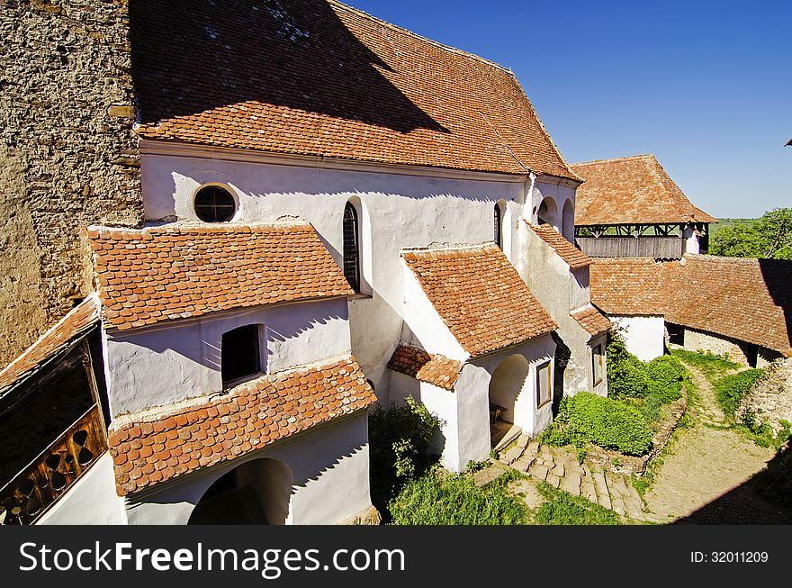 Courtyard of Viscri fortified church