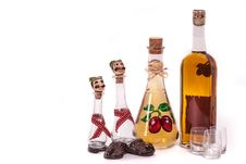 Free Dram And Plum Brandy Bottle Royalty Free Stock Photos - 32021458