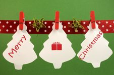 Free Merry Christmas Greeting Stock Images - 32021854