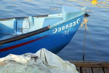 Fishing Boat In Acre Akko Port Israel Royalty Free Stock Photo