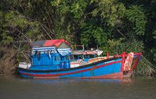 Free Vietnam. Boat On The River Stock Photography - 32027352