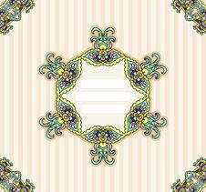 Free Invitation Template Ornamental Stock Photography - 32028732