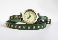Quartz Woman Wrist Watch Stock Photography
