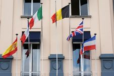 Free Hotel With Flags Stock Images - 32031424
