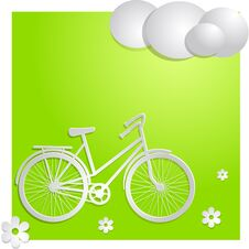 Free Bike With Green Background Royalty Free Stock Photos - 32038268