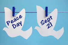Free International Peace Day Message Royalty Free Stock Photo - 32041065