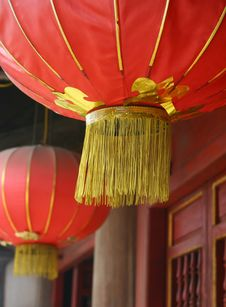 Free Red Chinese Lantern Royalty Free Stock Image - 32044156