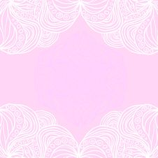 Free White Borders On Pink Background Royalty Free Stock Image - 32045236