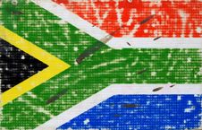 Free Grungy South Africa Flag Royalty Free Stock Photography - 32045727