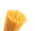 Free Closeup Top Bunch Spaghetti On A White Background Royalty Free Stock Photo - 32051275