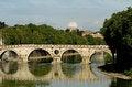 Free Bridge Over Tiber, Rome. Stock Images - 32057344